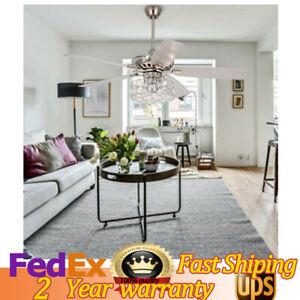 52 Modern Ceiling Fan Light Living Room Bedroom Chandelier With Remote Control Ebay