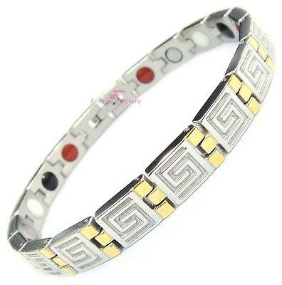 Magnetic Bracelet Energy Germanium FIR Anion Power Health 4in1 Bio Armband
