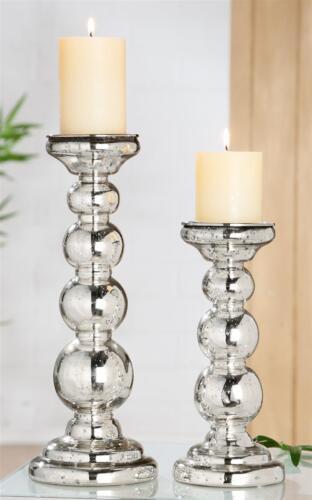 """Gilde Kerzenleuchter /""""Fascia/""""  silber passend für Kerzen bis D 8cm  Höhe 26,0 c"""