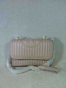 5cab99fa9d78 NWT Tory Burch Shell Pink Fleming Mini Stud Small Convertible Bag ...