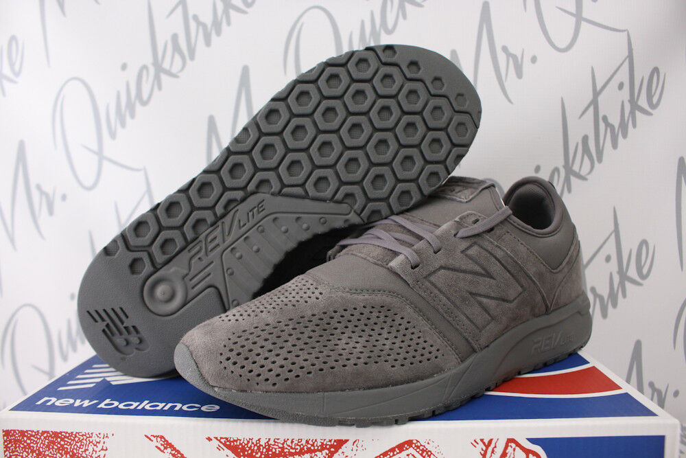 NEW BALANCE 247 SZ 8-13 GREY SUEDE RUNNING SHOES MRL247CA