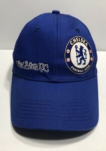 Image is loading Chelsea-Football-Club-Cap-Hat-England-Soccer-Adjustable- 72aa8b18e26d