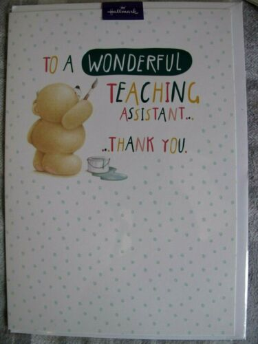 Thank You Wonderful Teaching Assistant Card Hallmark Forever Friends Classroom