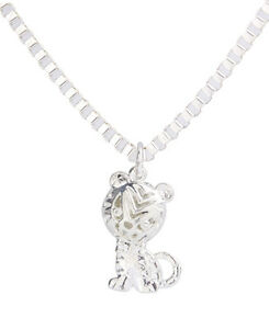 6Pcs Shiny Silver Metal Baby Word Link Chain Necklace USA Location