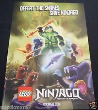 SD Comic Con 2012 Handout LEGO Ninjago MASTERS OF SPINJITZU poster