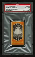 PSA 6 SHIRLEY TEMPLE 1937 Greiling Cigarette Card #498 Beautiful