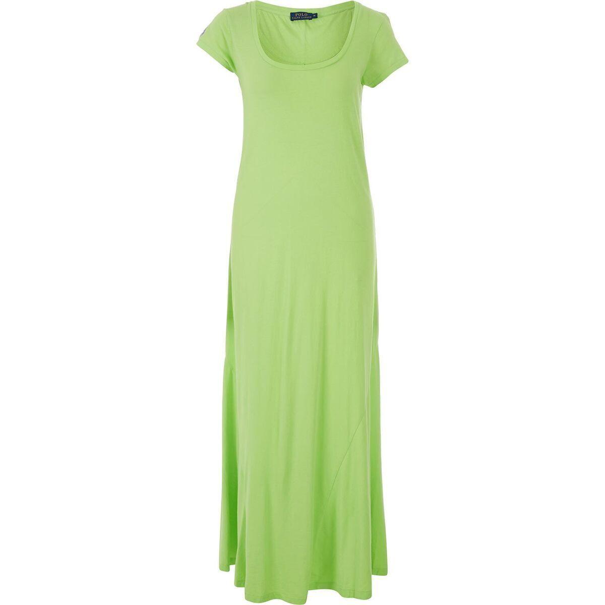 POLO RALPH LAUREN - Short Sleeve Cotton Summer Dress - Lime Green size S