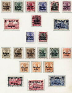 GERMAN-OCC-of-BELGIUM-1914-16-Specialised-collection-used