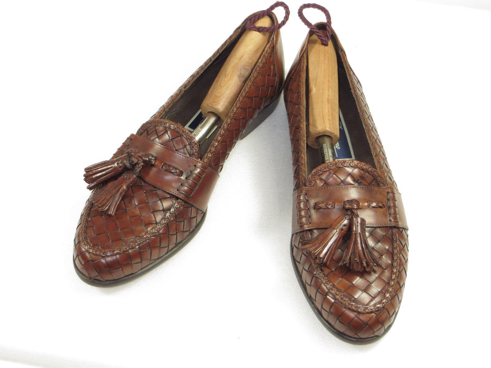 Super  Men's BRAGANO  COLE HAAN  leather weave loafer tassel walk,comfy 9 N