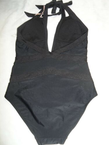 Ted Baker Ralinda Triangle Cut Out One Piece Swimsuit Black 3 WHITE 4-$155