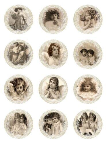 Aufkleber-Möbeltattoo-transparent-Shabby-Vintage-Weihnachten-Engel-1196