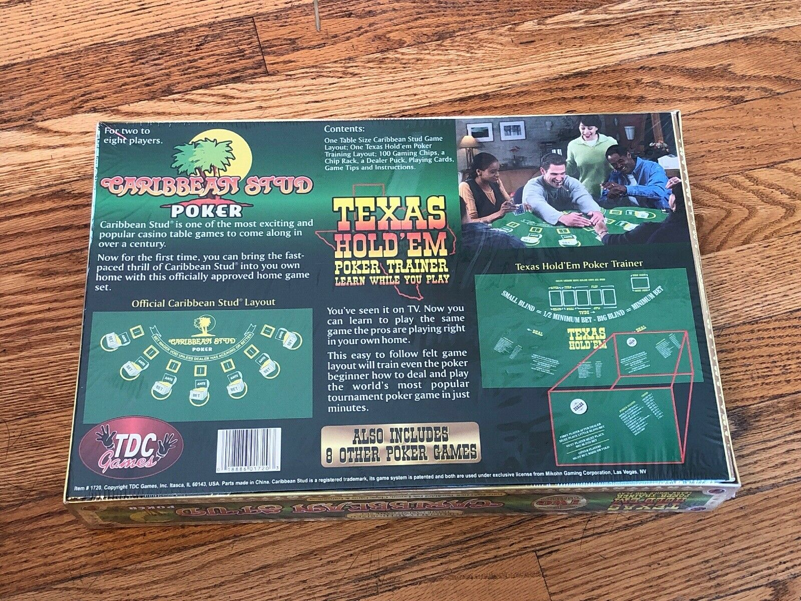 Caribbean Stud Poker Texas Holdem Home Casino Game Set From Tdc Games