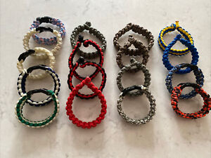 Lot Of 17 Handmade Paracord Bracelets All Sizes Colors