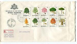 1979 Fdc San Marino Natura Da Salvare Alberi Raccomandata First Day Cover Fournir Des CommoditéS Pour Le Peuple; Rendre La Vie Plus Facile Pour La Population