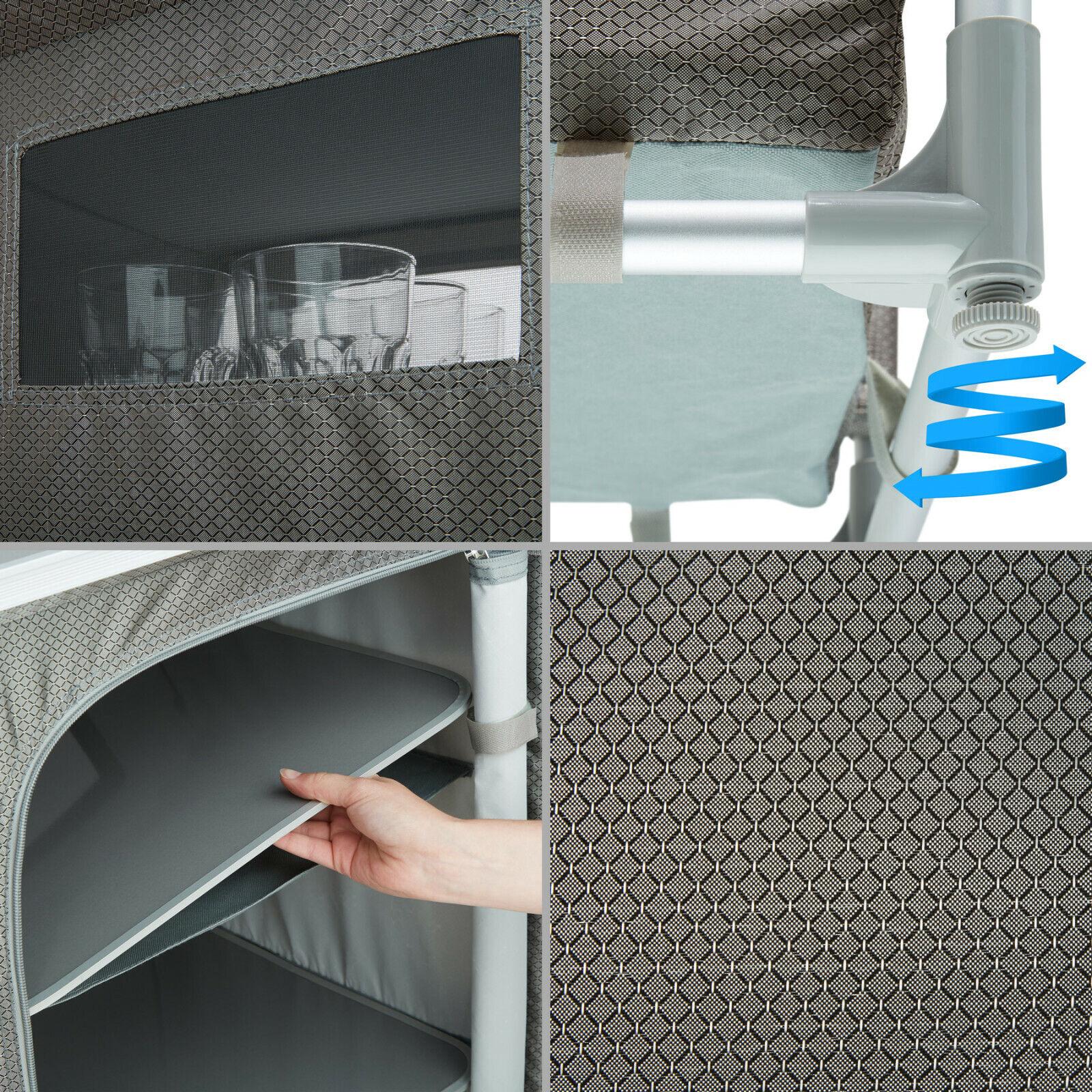 s l1600 - Campingküche Alu Küchenbox Campingschrank Faltschrank Reiseküche Küche faltbar