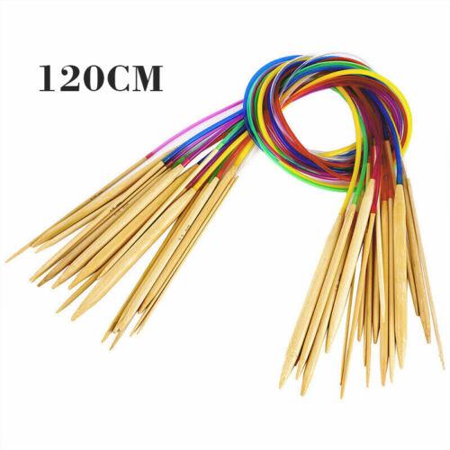 Set Längenauswahl 40 60 80 100 120 cm Stricknadeln Bambus 18 Rundstricknadel