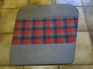 panneau-de-porte-garniture-arriere-droite-RENAULT-4-R4-4L-ecossais-rouge-bleu