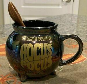 IN HAND! Disney 2020 Hocus Pocus Iridescent Mug and Broom Spoon Set Brand New
