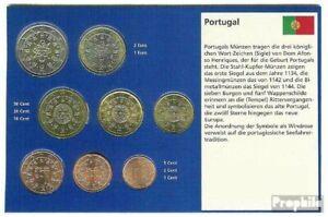 Portugal 2002 série de monnaies fleur de coin 2002 euro-première émission