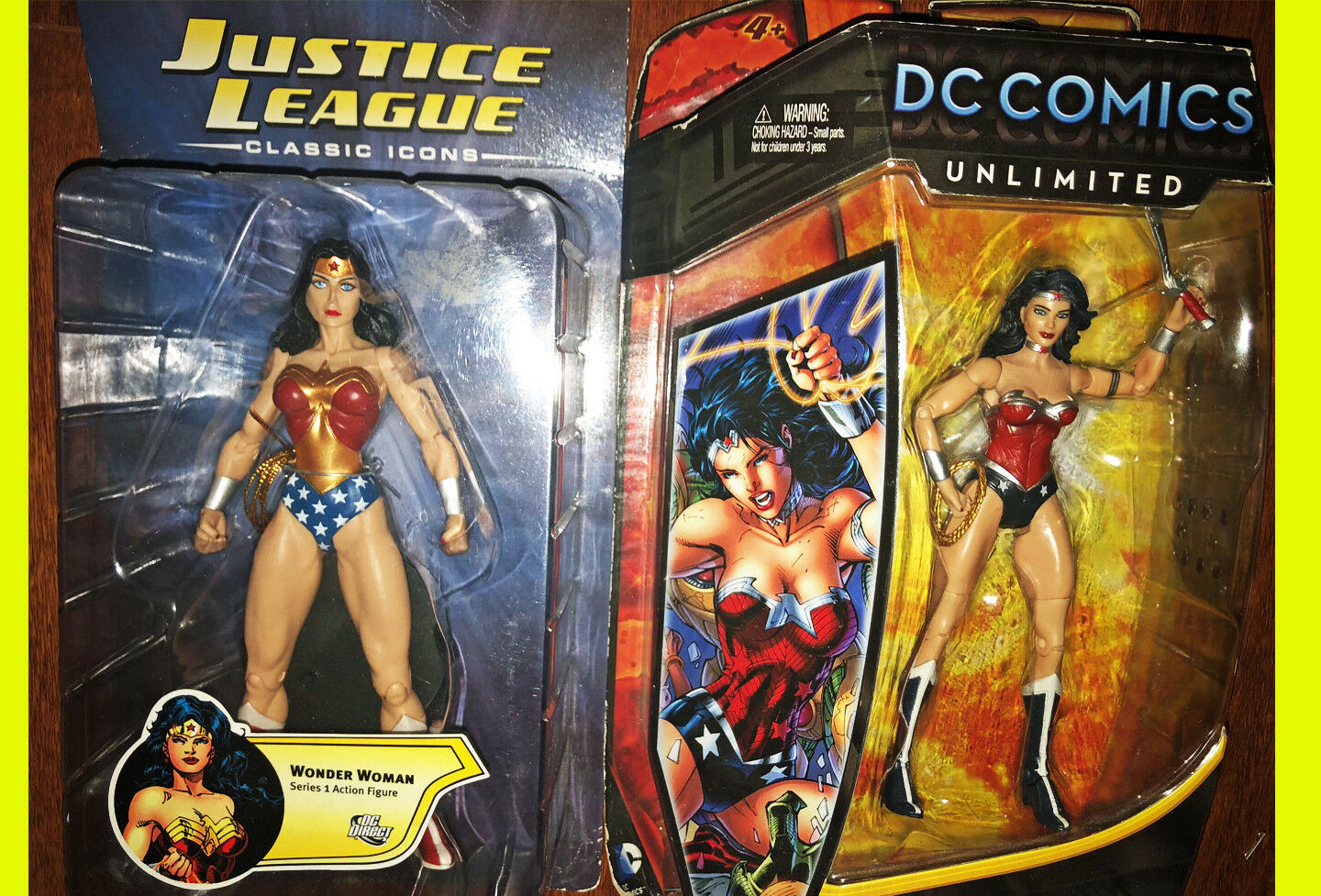 DC Direct Justice League Classic Icons Wonder Woman and Unlimited New 52 Figure