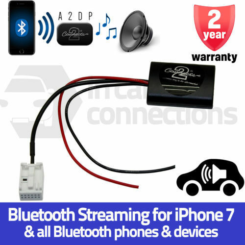 CTACT1A2DP Citroen C2 C3 C4 A2DP Bluetooth Streaming Interface Adapter iPhone 7