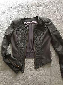 Good-Conditon-gotta-Grey-Stylish-Zip-Bomber-Jacket