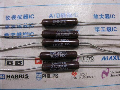1x 350R  5W  Vitreous Enamel Conformal Axial Wirewound Resistors 5/% 350Ω 25J350E
