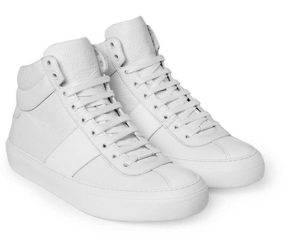 Mens White High Top Sneakers Shoes