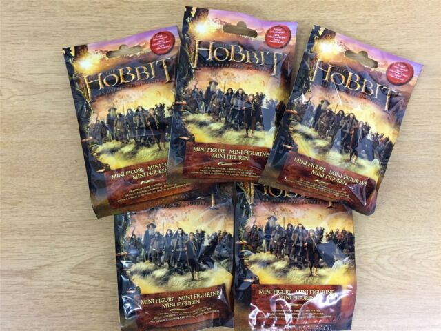 Hobbit mini figurines series 1 unexpected journey 4 x blind bags new and sealed