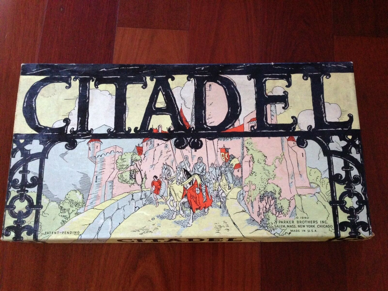 1940 Parker Brougehers Citadel BOARD GAME RARE