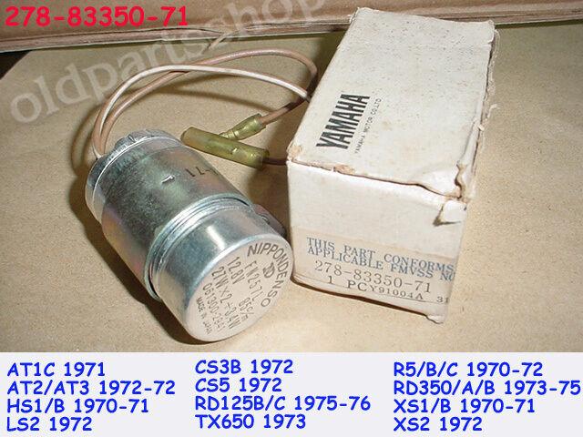Yamaha RD125 R5 RD350 Flasher Relay NOS XS1 TX650 AT2 LS2 CS3 CS5 278-83350-71