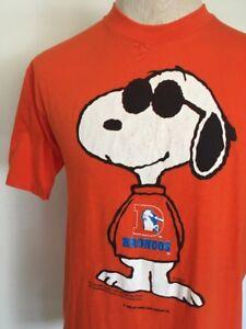 Details about VTG 80s ~ Joe Cool 50 50 DENVER BRONCOS SNOOPY T SHIRT Soft    Thin Orange NFL L 46f51dd1b