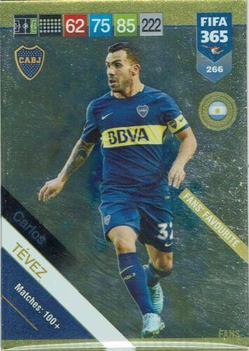 Panini FIFA 365 2019 Adrenalyn XL Card Karte Fans/' Favorite Nr 266 Carlos Tevez