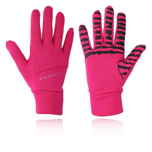 Higher State Damen Handschuhe Laufhandschuhe Hot Pink Reflektierend Jogging
