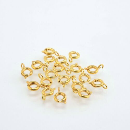 6mm Gold Plated Spring Clasps 40pc