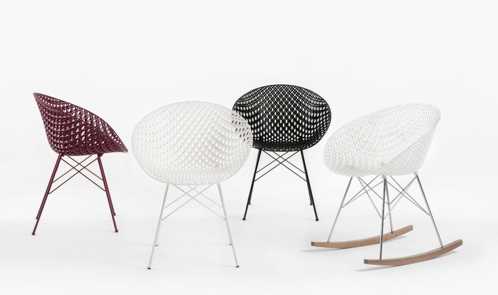 2 sedie Kartell Smatrik Nero 583409 poltrona Design moderno Nuove da outlet