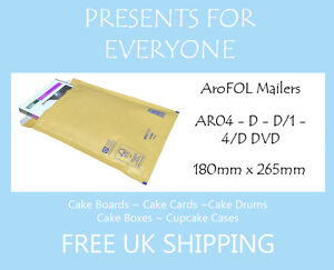 100 x AroFOL Gold Brown AR04 JL1 Bubble Lined Padded Mailing Envelopes Bags