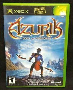 Azurik Rise of Perathia - Original Microsoft Xbox Game 1 Owner Near Mint Disc