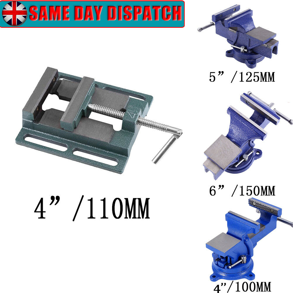 4 5 6'' Mechanic Work Bench Vice Table Jaw Swivel Base 360° Workshop Clamp Press