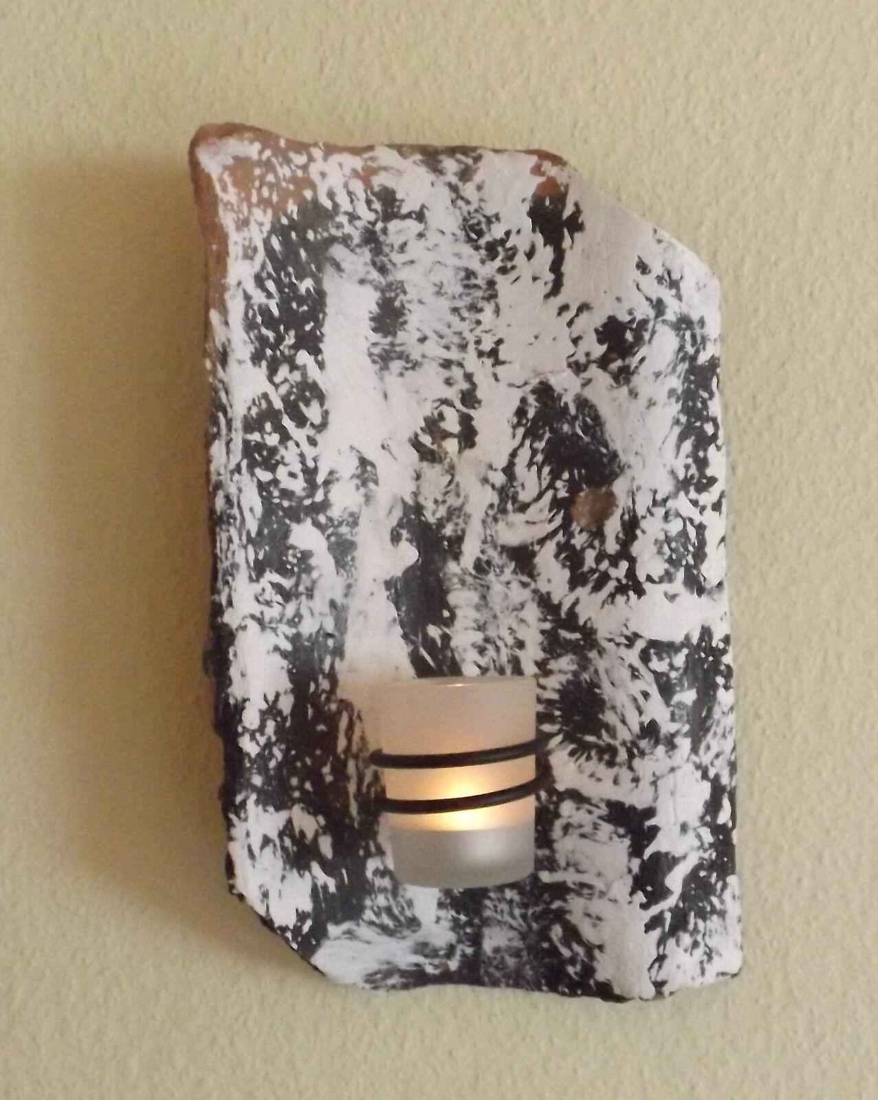 Wandkerzenhalter,Mia, Wandkerzenhalter,Mia, Wandkerzenhalter,Mia, Teelichthalter Dachpfanne Antik Marmoriert Teelichtglas, | Bekannt für seine hervorragende Qualität  abe027