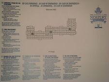 Plan original Hotel Disney Newport Bay Club - 4 ABC - DISNEYLAND Paris NEUF