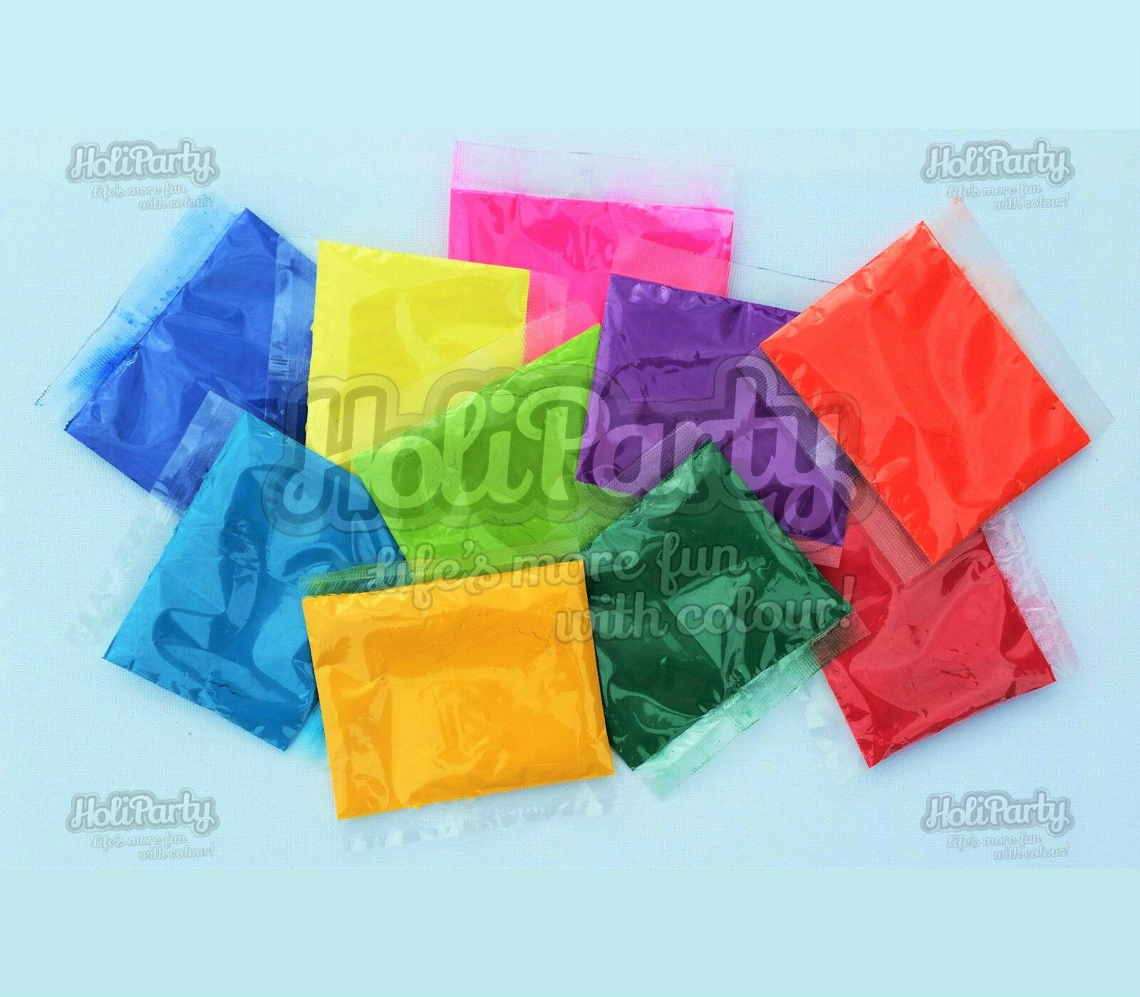 50 x 100g paquets, 10 run/jeter couleurs holi poudre bundle (couleur run/jeter 10 des poudres) fb079d