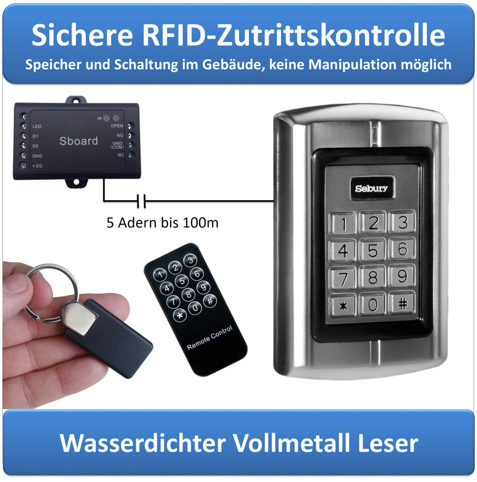 Expert-RFID-Set, sabotagesicher, RFID-   PIN-Code-Leser, EM 125kHz, IP65, Sboard