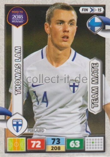 Fin15-Thomas Lam équipe MATES-PANINI ADRENALYN ROAD TO WORLD CUP 2018