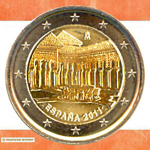 Sondermuenzen-Spanien-2-Euro-Muenze-2011-Granada-Sondermuenze-zwei-Gedenkmuenze