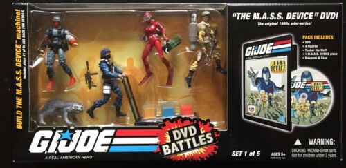 """Gi joe 25th /""""The M.A.S.S Device/"""" Battles Set 1 Of 5 Factory Sealed Boxed Set"""
