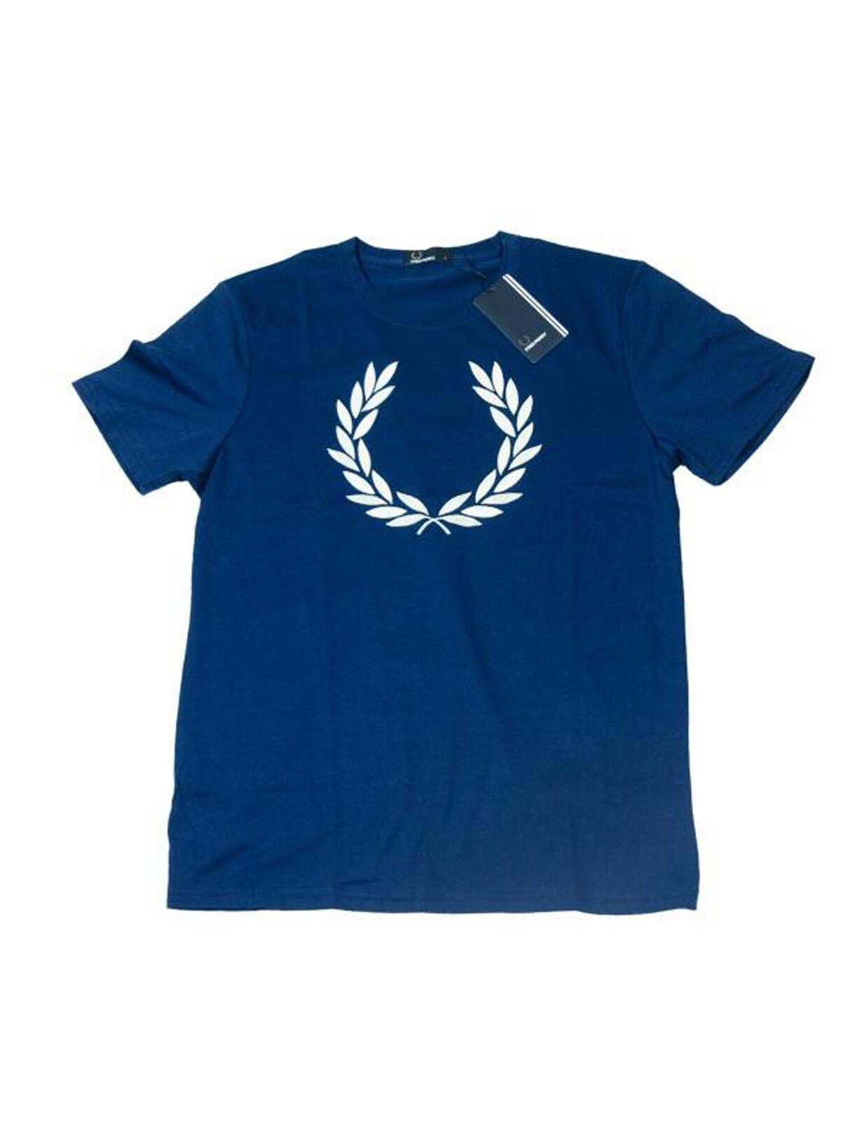 Frot Perry T-Shirt Navy Lorbeer gestickt M7259 143  5720