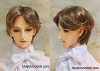 1/3 Bjd 9-10 Doll Head Brown Synthetic Mohair Short Wig Soom Pullip Taeyan