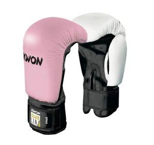 Details zu KWON® POINTER Boxhandschuhe Boxhandschuh weiß pink rosa