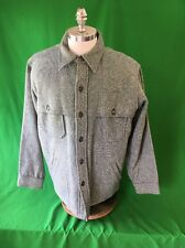VTG Woolrich Mackinaw Wool Hunting Jacket Men's Xl Coat Shirt Hiking Chores